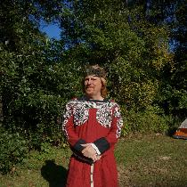 Coronation Tunic for The Society of Creative Anachronism Kingdom of Gleann Abhann Biking Red lin...