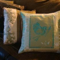 Annie, My cushion is made up from scraps and le...