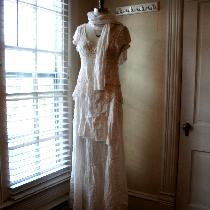 Boho Wedding Dress, created using primarily handkerchief Linen. The romantic linen skirt feature...