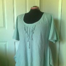 Bias cut tunic in IL020 MEADOW. 