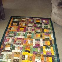 First quilt using batiks.  They were fun & I plan to do more.