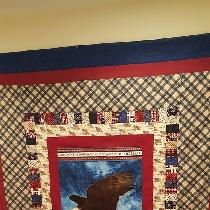 This is my first full size quilt with my own design that I  finished last month.  I love sewing...