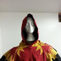 This is a 14th century recreation of a liripipe hood. This hood was made for the archery champio...