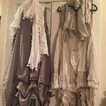 Part of my Bourgeois (bobo) chic collection. These dresses (short over long) are a combination...