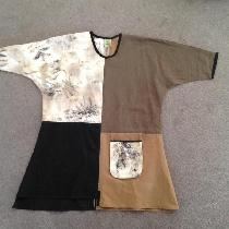 This tunic is my own design incorporating linen in your beautiful colours of nutmeg and cream, E...