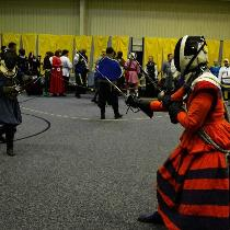Reenactment - This is my orange and purple linen Rapier Armor.  It is based on a 16th century Ge...