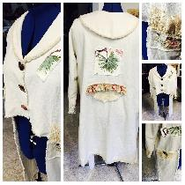 Wendy, Fun jacket made with heavy linen and bit...