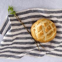 Tea towel made from fabrics-store yarn dyed linen. Love the anti-bacterial nature of linen, espe...