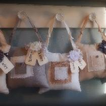 I recently designed these tooth fairy pillows using your linen in Pale Khaki, Cornsilk, Natural,...