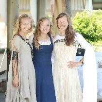 I made all three of these dresses, the one on the far left is 100% Linen. Linen is one of the ni...
