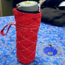 I made this thermos cover last night with a belt loop.  It's made of crimson linen with a liner...