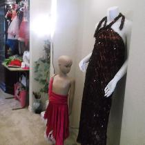 I am an innovative designer. I designs almost everything that comes to mind. on my mannequin is...
