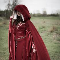 This dress is based from Medieval queen Genevieve from the Arthurian legend. The embroidery is a...