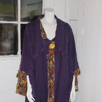 Tina Givens coat in middle weight linen