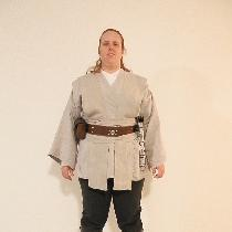 This a Jedi outfit for primarily charity events (yay Rebel Legion!). The tunic was made of linen...