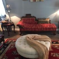 I bought a chaise lounge from the Salvation Army Family Store.  Loved it but not the fabric.  I...