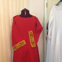 Viking Tunic with embroidered trim made from 4C22 Linen