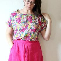 Sewaholic Hollyburn skirt in IL020 Raspberry- so bright and happy, almost a neon pink. Had to li...