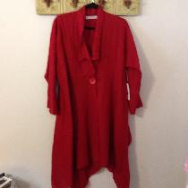 This is my medium weight linen coat. It consists of 3 squares sewn at an angle. One in back and...