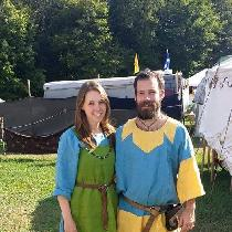 Caity, SCA viking apron dress under dress, and...