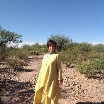 Hand-Dyed Spicy Mustard, 100% European Handkerchief Linen...Long Layered Dress Set, modeled by K...