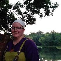 Linen underdress and linen apron dress for Viking reenactment. Linen purchased from fabrics-stor...