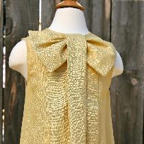 Hi, this is my big bow,  100% pure linen dress. I created this dress for one of my clients who w...