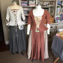 18th century linen jacket, skirt and hand embroidered stomachers.These were  inspired by our fav...