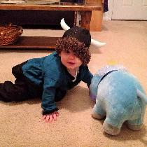 G. kathryn, Carwyn's first Halloween costume was a v...