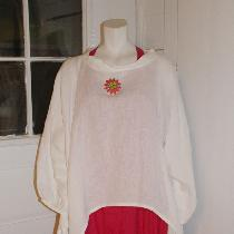 Tina Givens Oprah top (medium optic white linen) and sugar slip (lightweight linen)