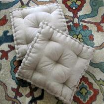 Darcy, Tufted Floor Pillows, Handcrafted with N...
