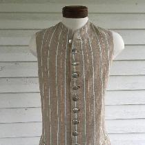 This is a 100% linen, 1770s style men's waistcoat. The design for this project is typical of mos...