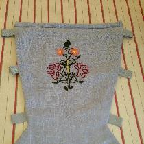 18th Century Stomacher made for my shop.  The front of the stomacher is linen and is fully boned...