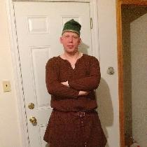 My husband in his 11th Century Norman garb.