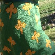 This is a side seam detail of my contest entry. I was so excited when that clover matched up so...