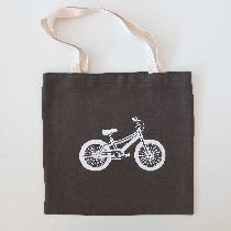 Elizabeth, Linen Tote Bag with Bike Screenprint