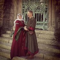 My lord and I, portraying a couple of the late 11th Century, at a Twelfth Night event held at a...