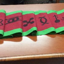 KWANZAA table runner with the Nguzo Saba - The  symbols for the Seven Principles.