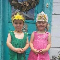 I made birthday outfits for my 3 year old twins in thier favorite colors. Forest is wearing a ro...