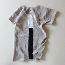 I have a clothing line - Le Bouton. This is one of the pieces I make. It's called the One Stripe...