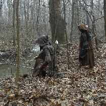 Medieval Rangers - We made these costumes with various shades of browns & black linen, all from...