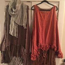 Part of my Bourgeois (bobo) chic collection. These dresses (short over long) are a combo of 4c22...