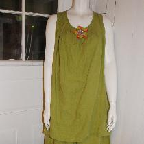 Tina Givens Beatrice tunic and Cara pant in middle weight oasis linen