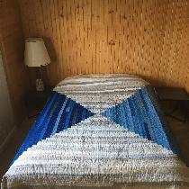 Rebekah, Courthouse steps quilt! Blues: Naturally...