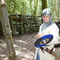 Patrick, A knight inspecting his blade.