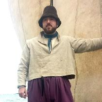 This is an early 17th century sea-going outfit.  The top is made of linen canvas and is worn ove...