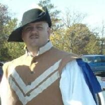 My Dashing Husband in a Doublet and pants I made quite a few years ago.