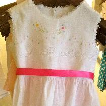Tesyla, This dress is handmade in handkerchief l...