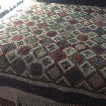 Linda, Quilt made completely from my scrap stas...