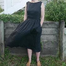 I made this dress from black linen (IL019 black softened) and have enjoyed wearing it often over...